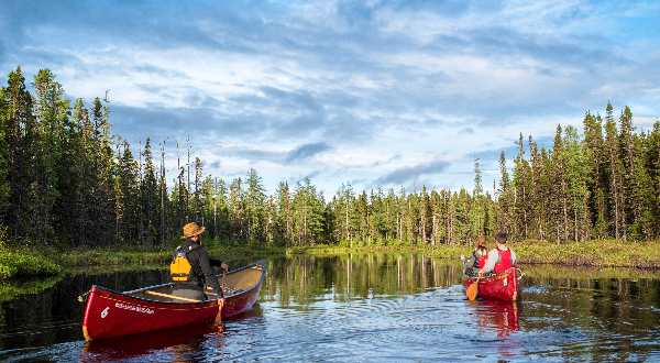 Enjoy exploring the area by boat or canoe.